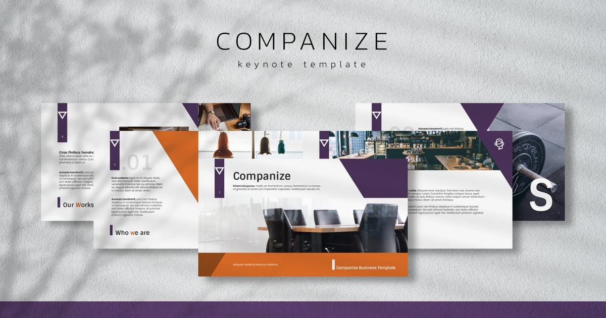 Download COMPANIZE - Business Keynote Template by inipagi