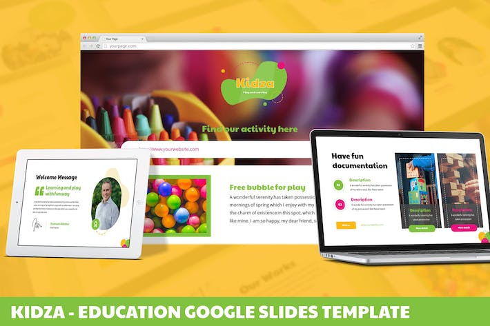 Thumbnail for Kidza - Education Google Slides Template