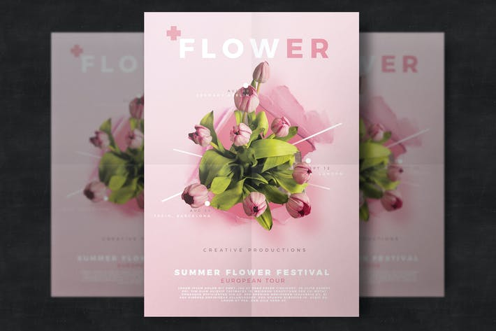 Thumbnail for Floral flyer template
