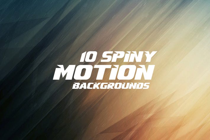 Cover Image For Spiny Motion Backgrounds