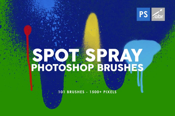 Thumbnail for 101 Spot&Blob Spray Photoshop Stamp Brushes