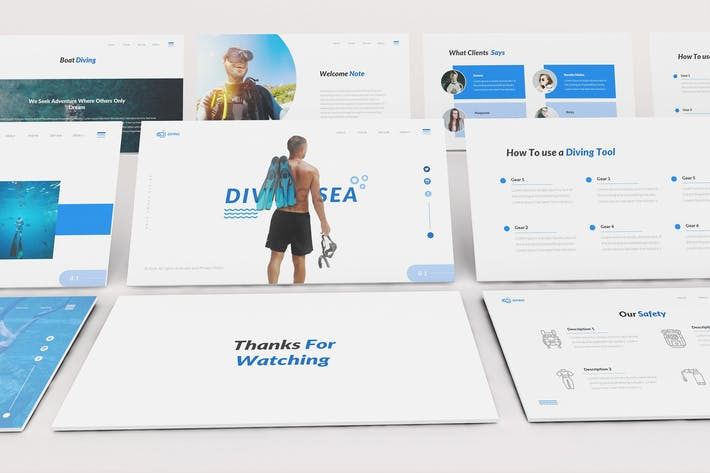 Thumbnail for Diving School Keynote Template