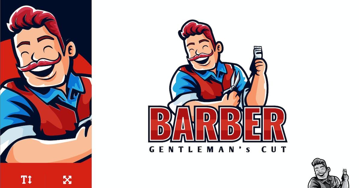 Download Barber Gentleman Cut Logo Illustration Vector by naulicrea