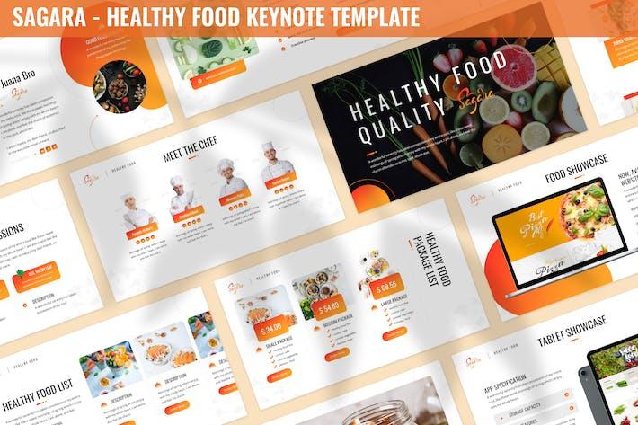 Сагара - Шаблон Keynote здорового питания