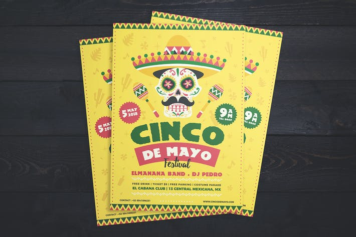 Cover Image For Cinco de Mayo Festival Flyer