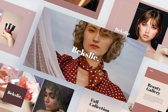 Thumbnail for Bekslie - Beauty Vlogger Шаблон Keynote