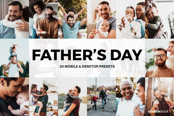 Cover Image For 20 Father's Day Lightroom Presets and LUTs