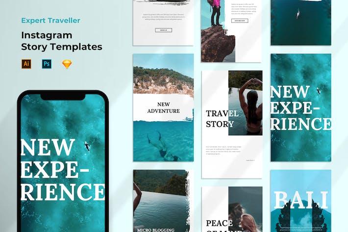 Thumbnail for Instagram Story Template - Travel Brush Style