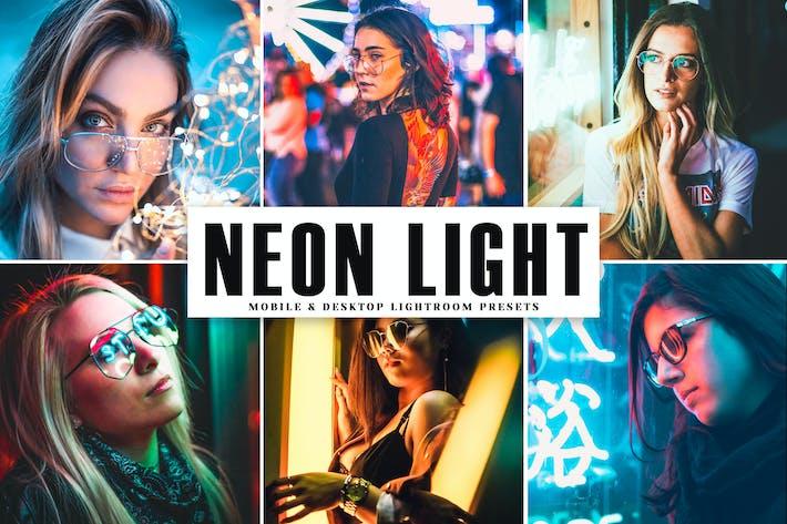 Cover Image For Neon Light Mobile & Desktop Lightroom Presets