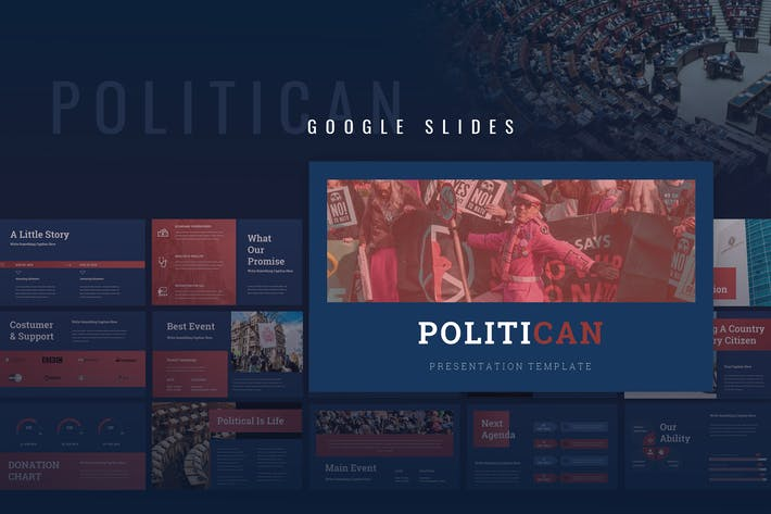 Thumbnail for Politican - Political Campaign Google slides