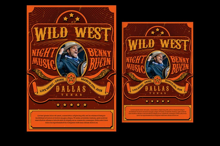 Thumbnail for Wild West Music Flyer