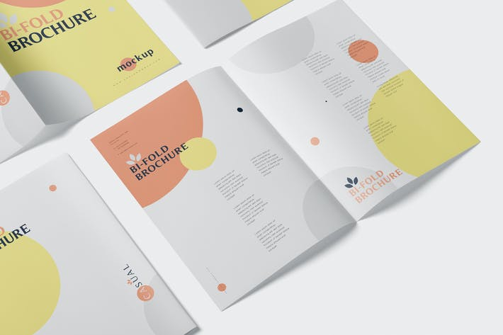 Thumbnail for A5 Bi-Fold Broschüre Mock-Up Set