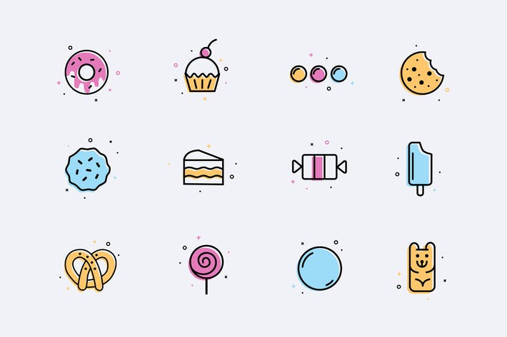 Thumbnail for Desserts Icons