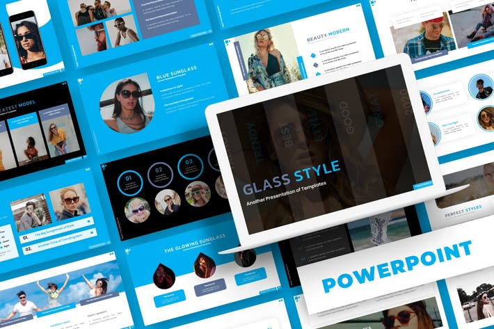 Thumbnail for Glasss Style - Powerpoint Template