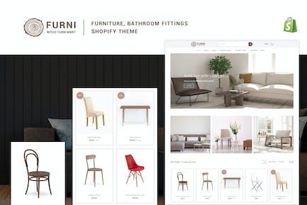 Furni - Mobiliario, Accesorios de Baño Shopify Tema