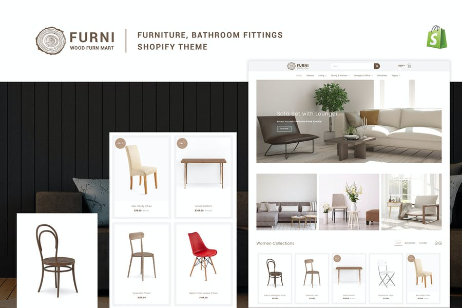 Furni - Мебель, фурнитура для ванной комнаты Shopify Тема