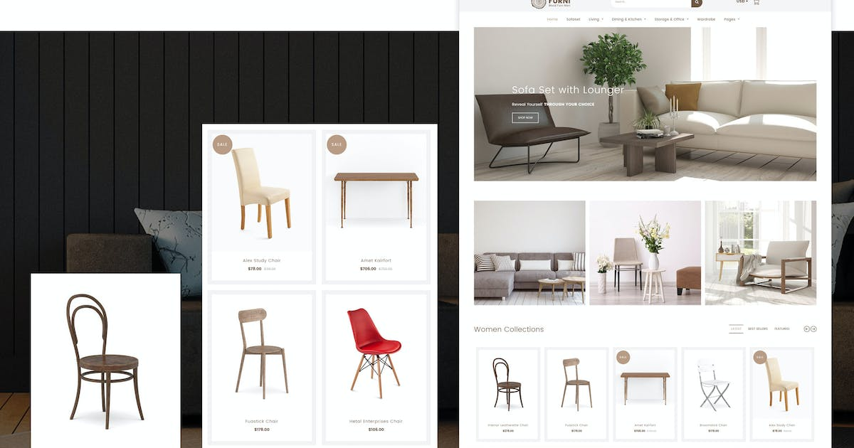 Download Furni - Furniture, Bathroom Fittings Shopify Theme by designthemes