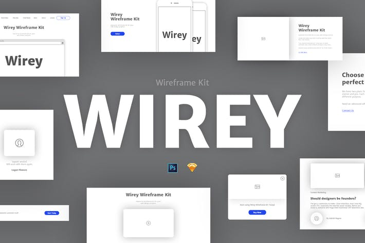 Thumbnail for Wirey Wireframe Kit