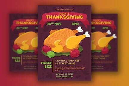 Affiche de Thanksgiving avec Turquie