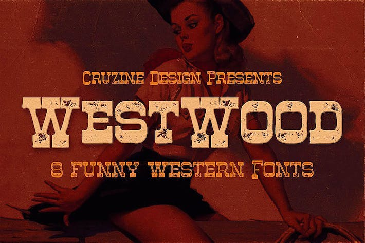 Thumbnail for Westwood - Funny Western Font