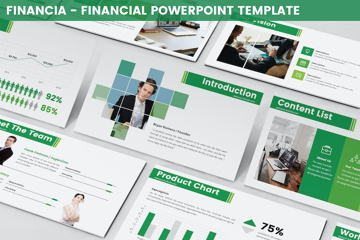 Thumbnail for Financia - Financial Powerpoint Template