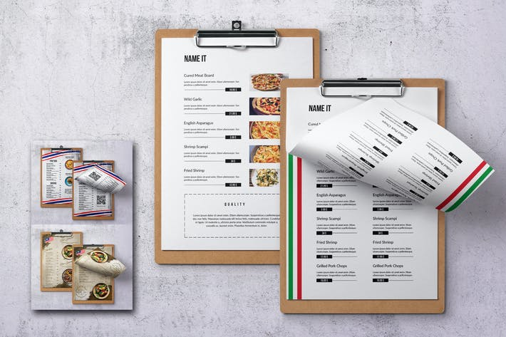 Thumbnail for Different Countries Single Page Food Menu Bundle