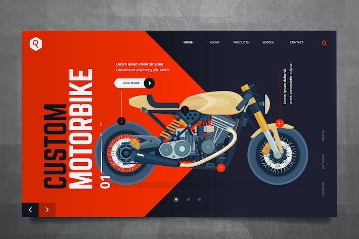 Cover Image For Custom Bike Web Header PSD & Vector Template
