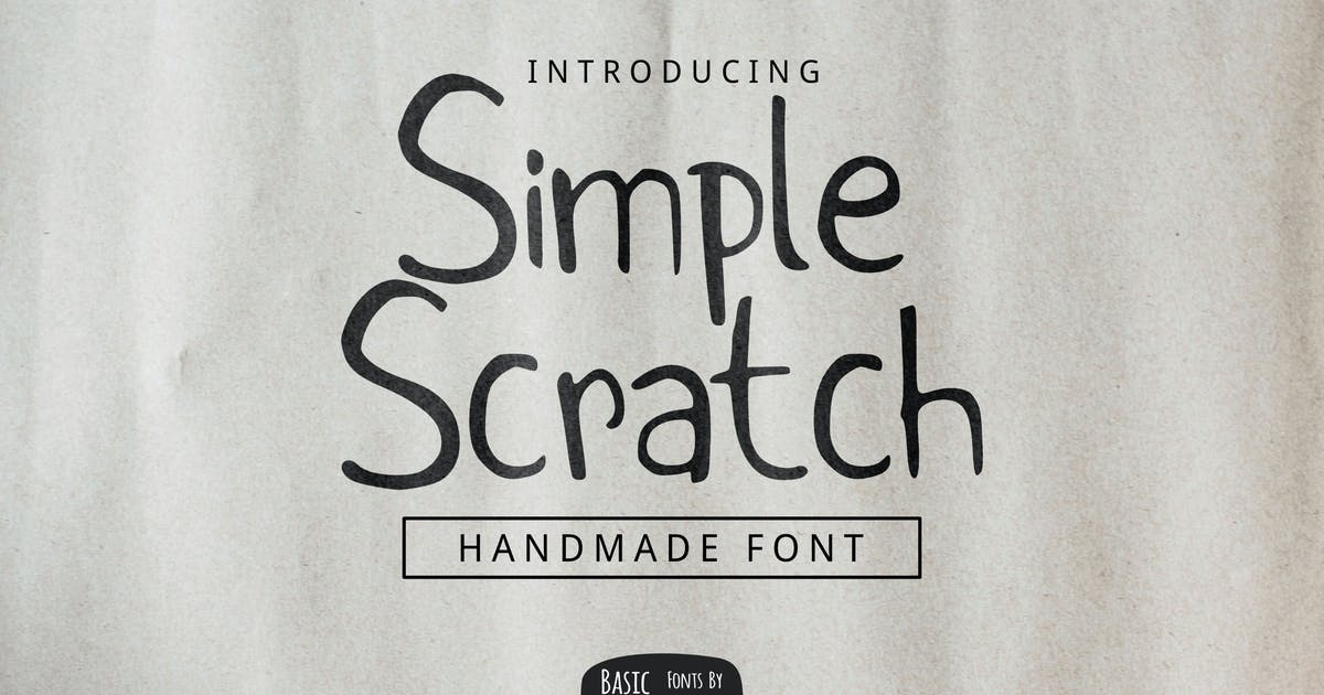 Download Simple Scratch Font by yandidesigns