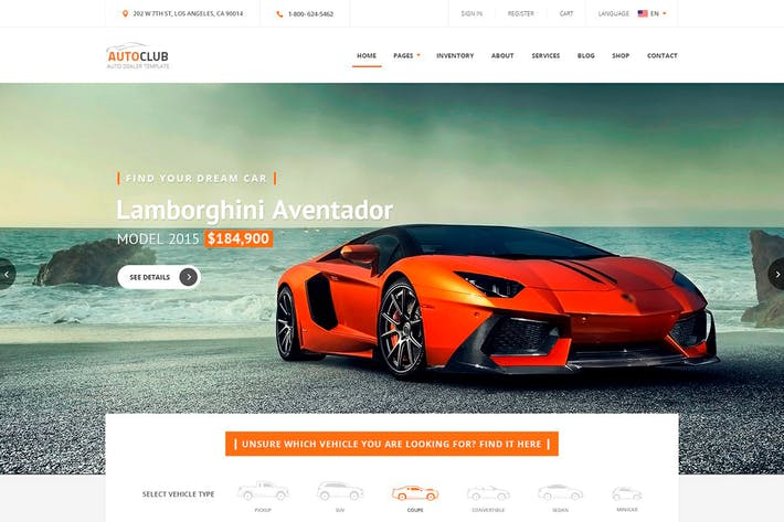 Thumbnail for Auto Club - Car Dealer HTML Theme