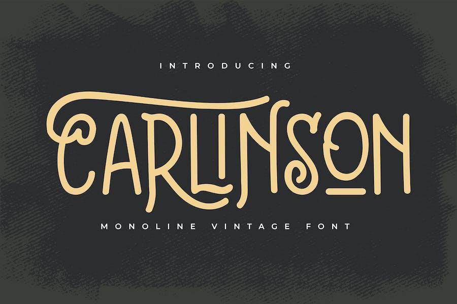 Carlinson | Monoline Vintage Font