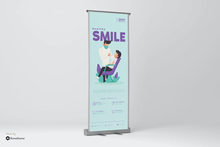 Thumbnail for Healthy Smile - Rollup Banner GR
