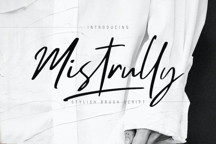 Thumbnail for Mistrully Brush Script