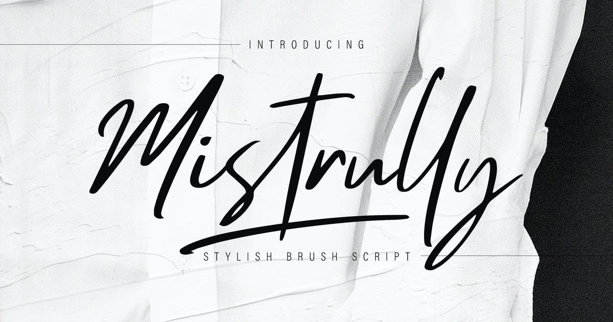 Download Mistrully Brush Script by RahardiCreative