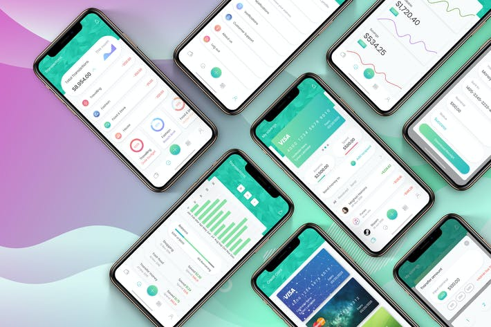 Cover Image For Financial App UI Mobile Kit 2 - H