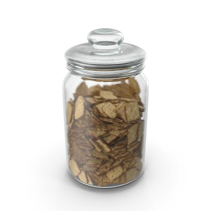Jar with Mini Rhombus Crackers