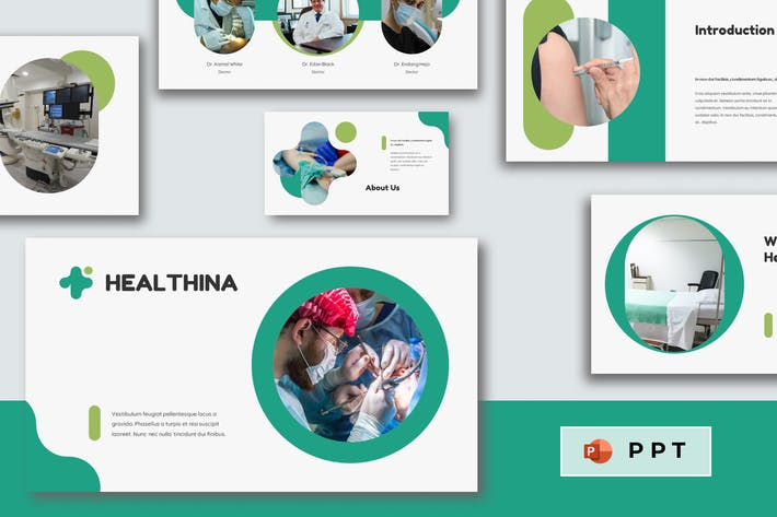 HEALTHINA - Medical Power Point Template