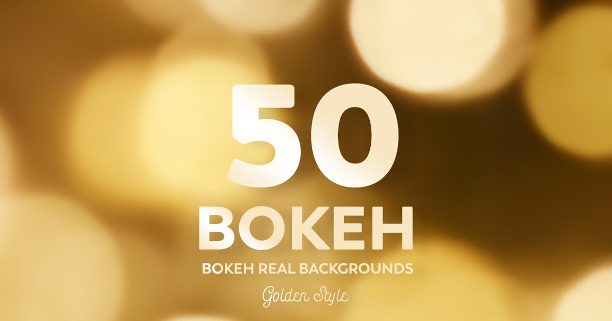 Download 50 Bokeh Real backgrounds - Golden Style by mamounalbibi
