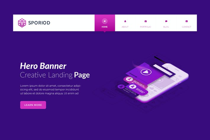 Thumbnail for Sporiod - Hero Banner Template