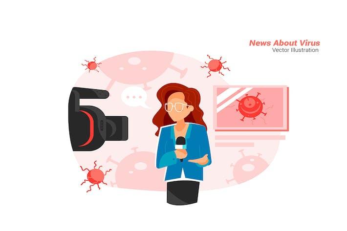 News Virus - Vektor Illustration