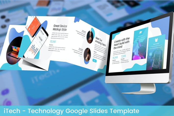 Thumbnail for iTech - Technology Google Slides Template