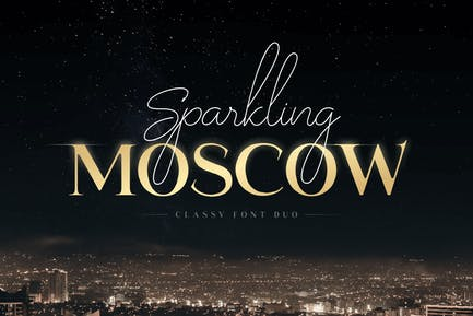 Sparkling Moscow - Classy Font Duo