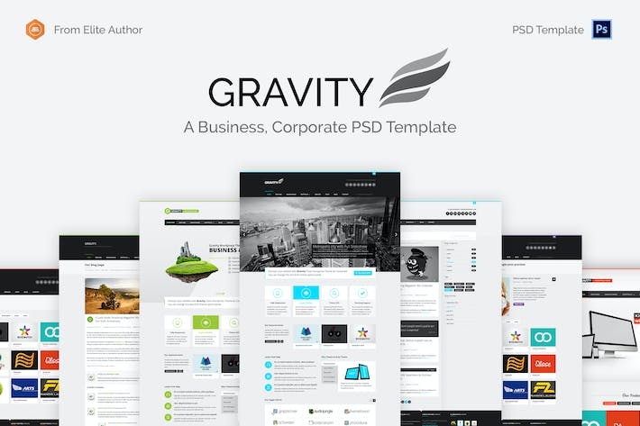 Thumbnail for Gravity - Unique Business Group PSD Template