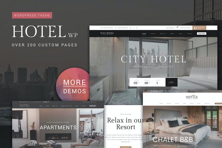Thumbnail for Hotel WordPress Theme