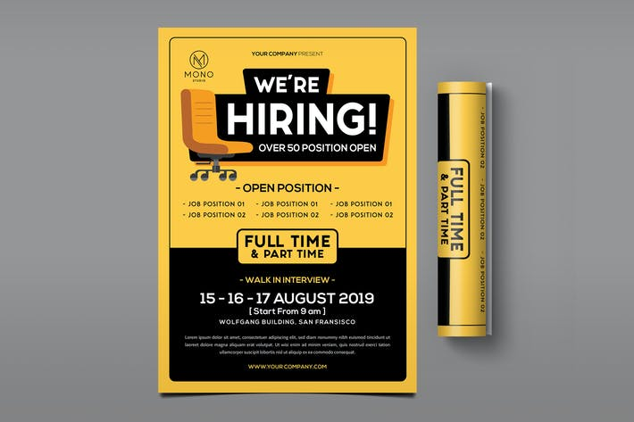 Cover Image For Job Vacancy Flyer
