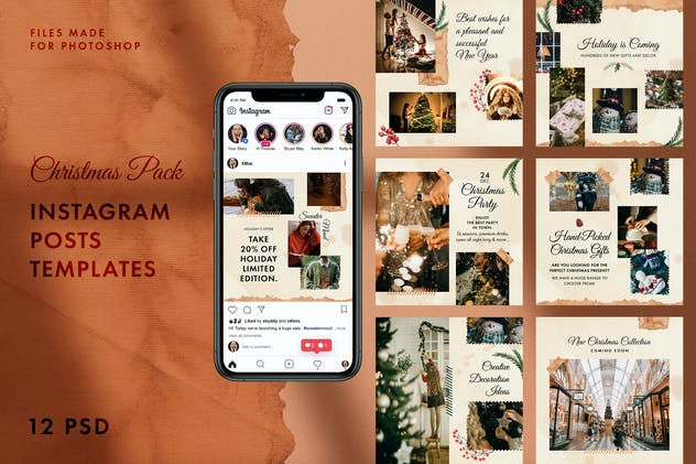 Christmas Instagram Posts - product preview 0