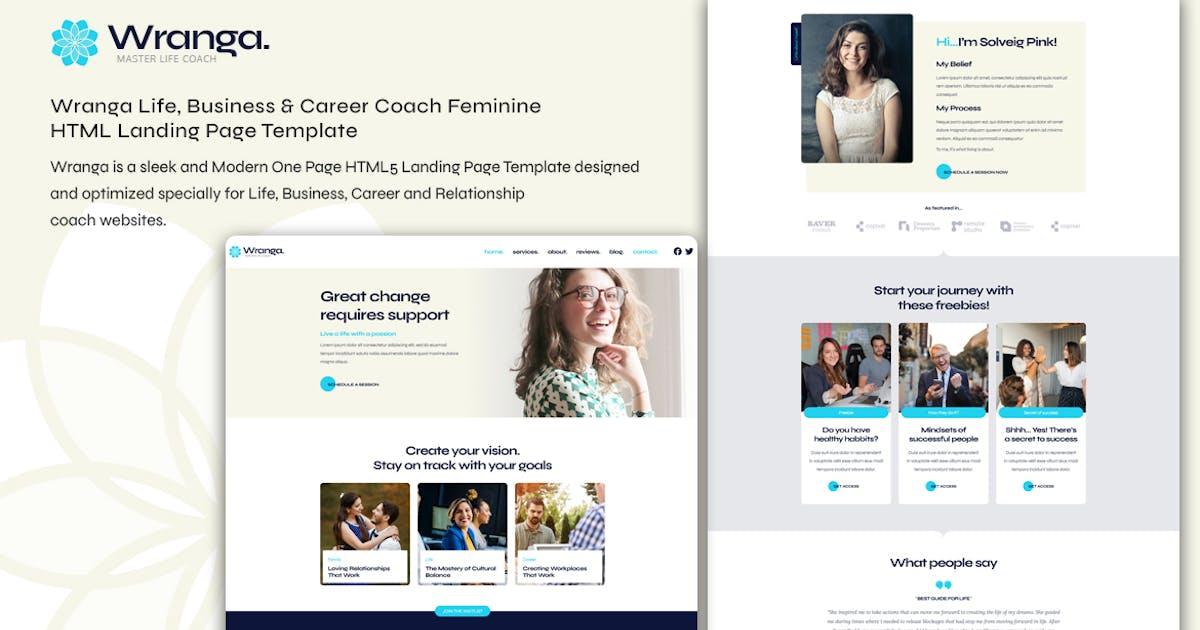 Download Wranga Life Coach Feminine HTML Landing Page by tansh