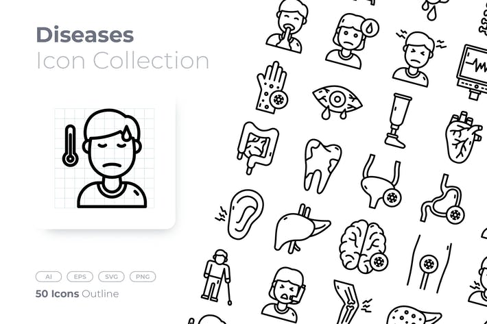 Diseases Outline Icon