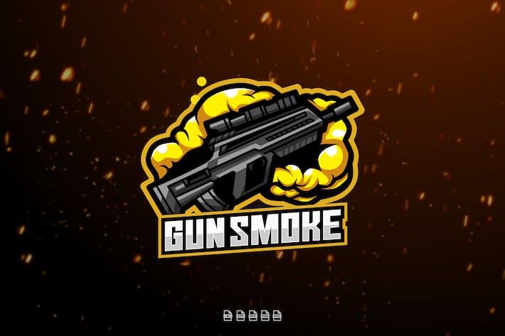 Gun Smoke Esport Gaming Logo