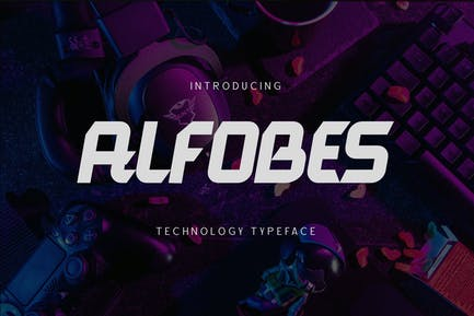 Alfobes typeface