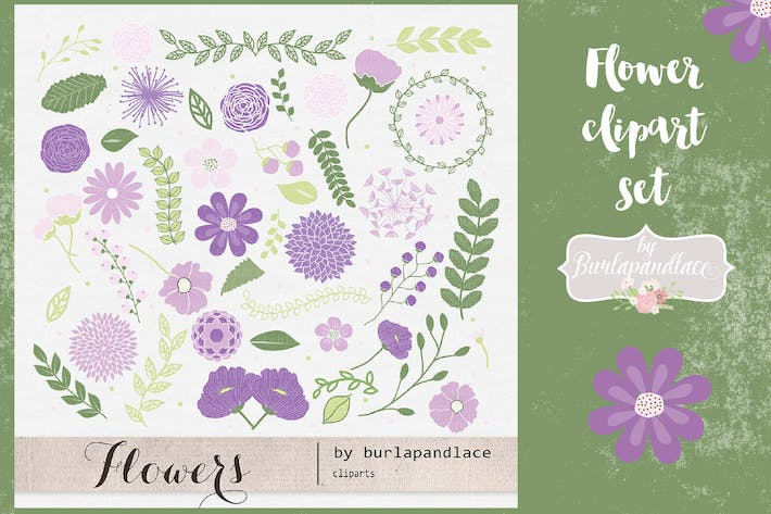 Thumbnail for Flower set clipart
